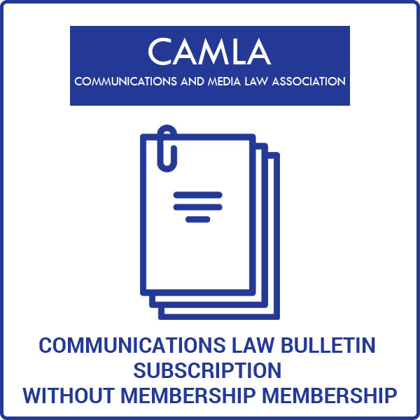 Communications Law Bulletin Subscription Without Membership